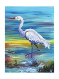 Yellow Heron II Poster by Olivia Brewington