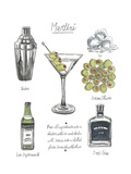 Classic Cocktail - Martini Posters by Naomi McCavitt