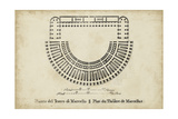 Plan for the Theatre of Marcellus Print