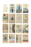 Mid Century Grid I Poster by Nikki Galapon