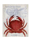 Crab Prohibition Crab On White Plakat af Fab Funky