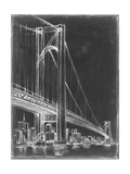 Suspension Bridge Blueprint I Print by Ethan Harper
