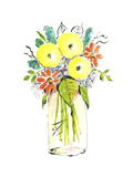 Flower Vase I Print by Julia Minasian
