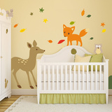 Woodland Theme Nursery Collection Wall Decal