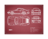 Mark Rogan - Porsche 911-Turbo 1977 Digitálně vytištěná reprodukce