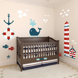 Nautical Theme Nursery Height Chart Wall Decal