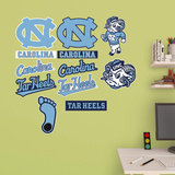 North Carolina Tar Heels - Team Logo Assortment Wall Decal