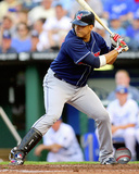 Victor Martinez 2008 Action Photo