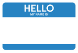 Hello My Name Is...(Blue) Prints