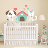 Puppies & Kittens Theme Nursery Collection Wall Decal