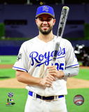 Eric Hosmer with the MVP Trophy 2016 MLB All-Star Game Photo