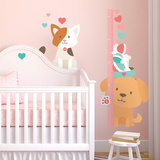 Puppies & Kittens Theme Nursery Height Chart Wall Decal