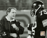 Chuck Noll & Joe Greene 1980 Photo