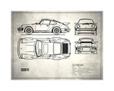 Porsche 911-Turbo 1977 White Giclee Print by Mark Rogan