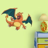 Pokemon - Charizard - Fathead Jr Adhésif mural