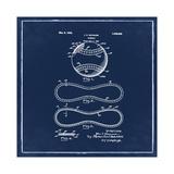 Baseball, 1927-Blue Giclee Print by Bill Cannon