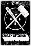 Crazy In Love! Distressed Black & White Affiches