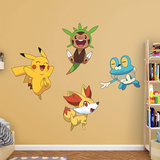 Pokemon - Kalos First Partner Collection Wallstickers