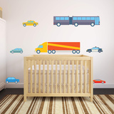Transportation Theme Nursery Collection Wall Decal