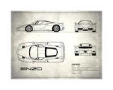 Mark Rogan - Ferrari Enzo White - Giclee Baskı