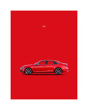 Audi S4 2015 Giclee Print by Mark Rogan