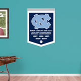 North Carolina Tar Heels Basketball Championships Banner Wall Decal