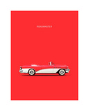 Buick Roadmaster 55 Red Giclee Print by Mark Rogan
