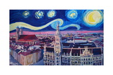 Starry Night In Munich Van Gogh Inspirations Posters by Markus Bleichner