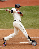 Victor Martinez 2008 Batting Action Photo