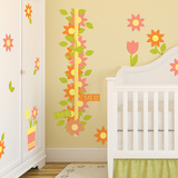 Garden Theme Nursery Height Chart Wall Decal