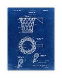 Basketball net, 1950-Blue I Giclee Print by Bill Cannon