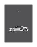 Audi R8 Giclee Print by Mark Rogan