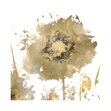 Flower Burst in Gold I Giclee Print by Vanessa Austin