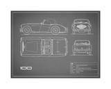 Austin-Healey 100-Grey Giclee Print by Mark Rogan