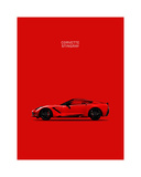 Chev Corvette-Stingray Red Giclee Print by Mark Rogan