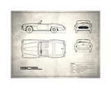 Mercedes 190-SL White Giclee Print by Mark Rogan