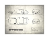Toyota GT2000 White Giclee Print by Mark Rogan