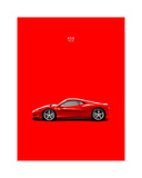 Ferrari 458 Italia Red Giclee Print by Mark Rogan