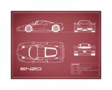 Ferrari Enzo-Maroon Giclee Print by Mark Rogan