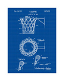 Basketball net, 1950-Blue II Giclee Print by Bill Cannon