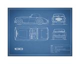 Austin-Healey 100-Blue Giclee Print by Mark Rogan