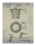 Basketball net, 1950-Antique I Giclee Print by Bill Cannon