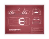Cobra-Maroon Giclée-tryk af Mark Rogan