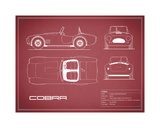 Cobra-Maroon Giclee Print by Mark Rogan