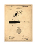 Bat, 1902-Antique Giclee Print by Bill Cannon