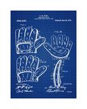 Baseball Glove, 1909-Blue II Giclee Print by Bill Cannon