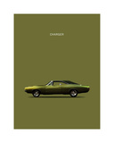 Dodge Charger Giclee Print by Mark Rogan