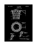 Basketball net, 1950-Black Giclee Print by Bill Cannon