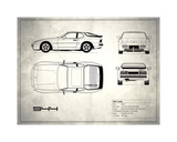 Porsche 944 Turbo White Giclee Print by Mark Rogan