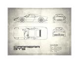 Porsche Carrera GTS White Wydruk giclee autor Mark Rogan